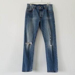 Levi's 501 original distressed jeans 30×32